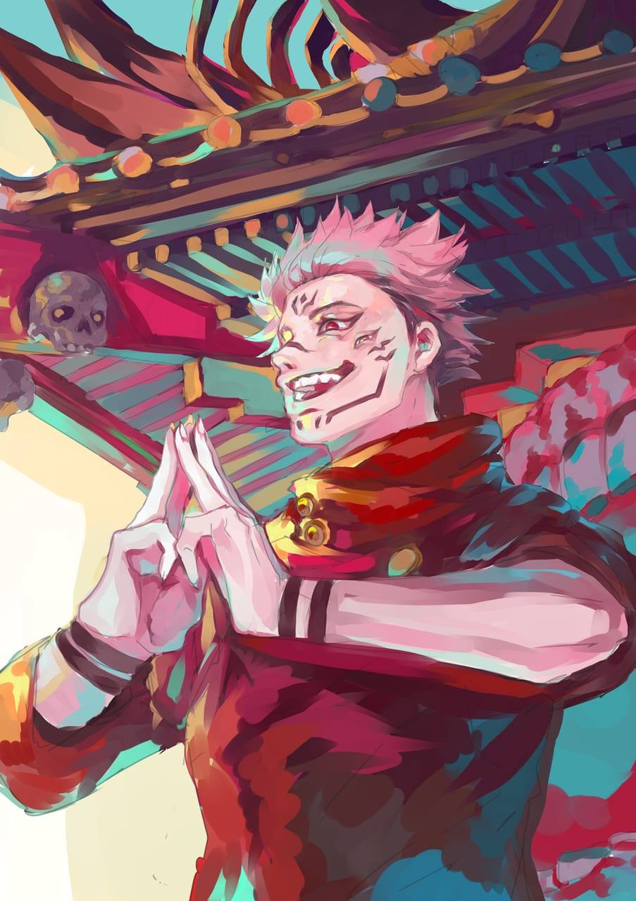 Jujutsu Kaisen-Ryomen Sukuna Illust of Gao Kao JujutsuKaisenFanartContest newyear JujutsuKaisen