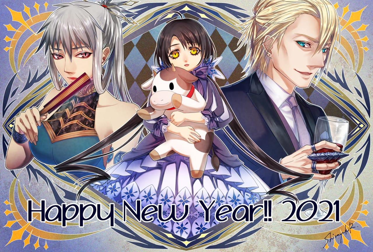 あけました Illust of 白雪R January2021_Contest:OC newyear original happynewyear oc