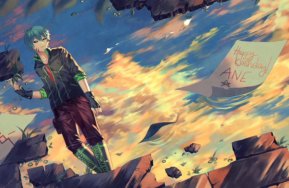 Bath in Sunset Illust of Neian illustration