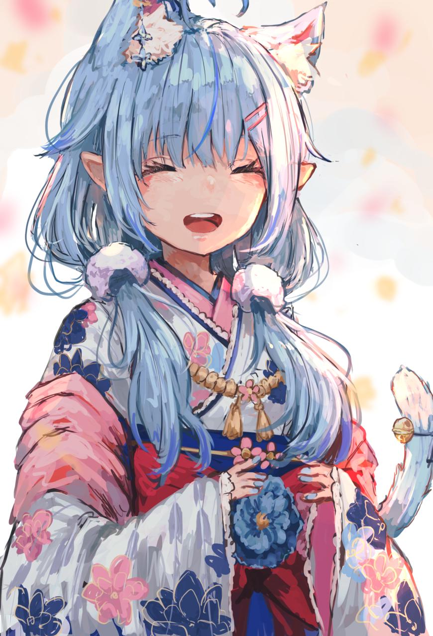 ラミィちゃん Illust of にゅちゃ virtual_YouTuber girl hololive cat_ears 雪花ラミィ
