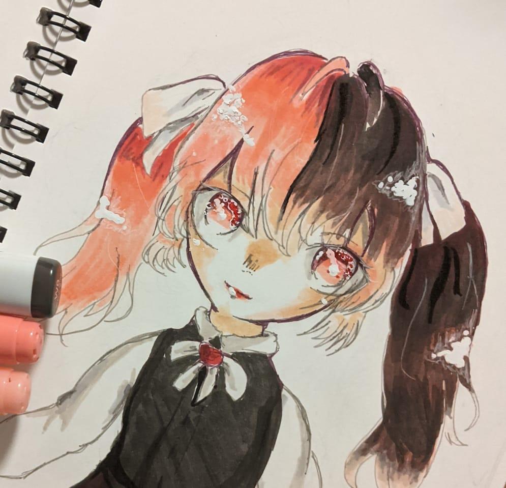 代理ちゃん Illust of ゆじゅ。 Copic girl 代理ちゃん ゴシックロリータ ゴスロリ アナログ 代理 illustration