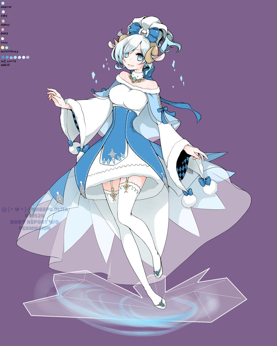 Snow Lily Lerisoirme Illust of Sheepilolita medibangpaint original