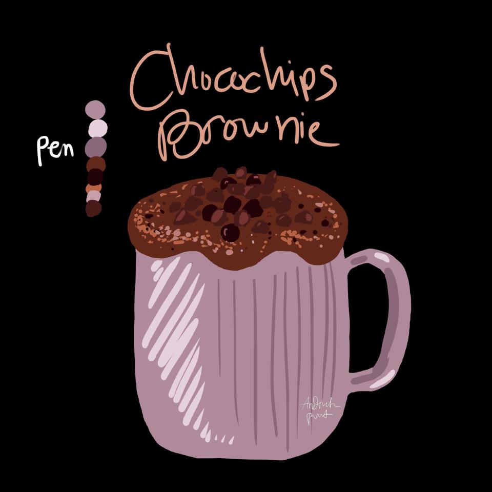 Chocichips Brownie Illust of Andinatz medibangpaint iPad_raffle