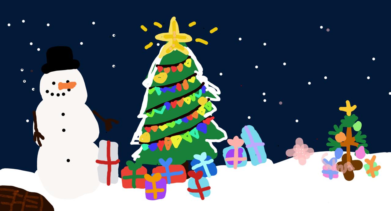welp- i Illust of Snow | Denki Mode Christmas 🌸❄️Sakura❄️🌸 ;m; meep
