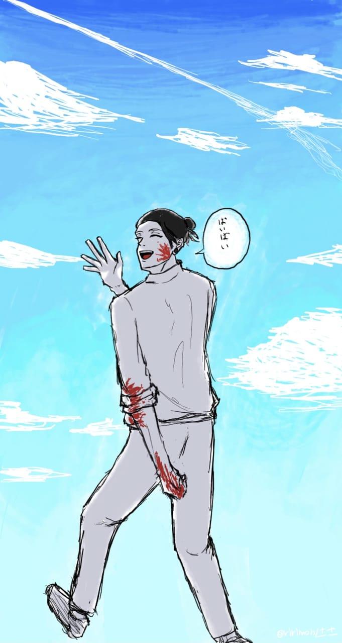 「ばいばい」 Illust of りりもん🤞🏻⚫️ JujutsuKaisenFanartContest Emo 夏油傑 JujutsuKaisen