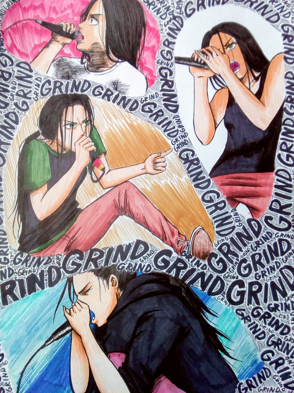BREEEEEEEEEEEEEEEEH Illust of Nurru characterdesign music characterdesing diseñopersonaje woman diseñodepersonajes Characterdesing femaleoc