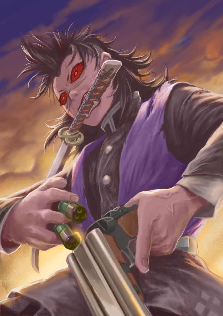 oni genya  Illust of sandkuwng DemonSlayerFanartContest ShinazugawaGenya fanart KimetsunoYaiba