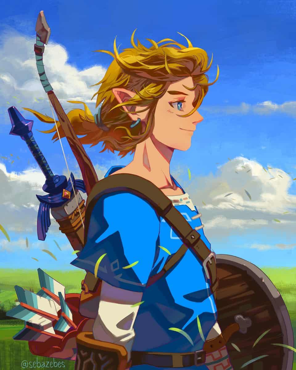 Link fanart Illust of Sebazebes Nintendo LegendofZelda nintendofanart Zelda Link TheLegendofZelda