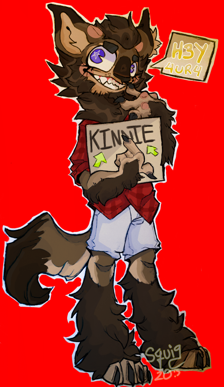 HAHA you kinnie Illust of Squigqutts doodles illustration squigqutts MyArt friend art artfight Werewolf