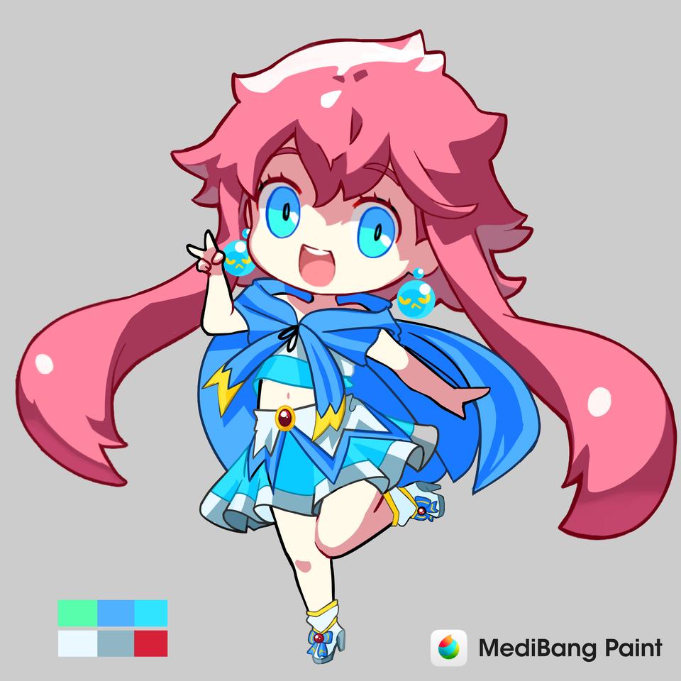 1619636943785 Illust of Karenhc anime medy-cha drawing animegirl digital chibi illustration Dress-up_Challenge color medibangpaint