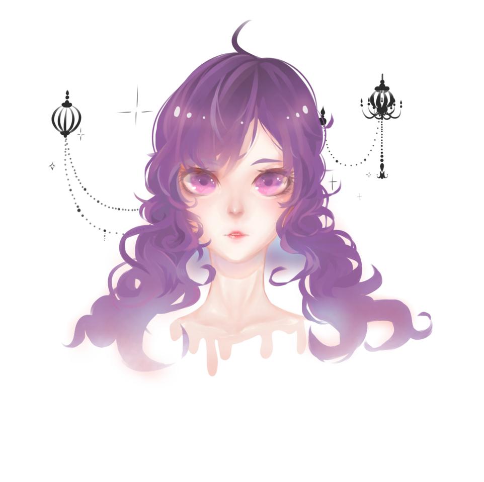 blue rose normal Illust of Drawing.in.wonderland medibangpaint character shonen oc original Trap purplehair