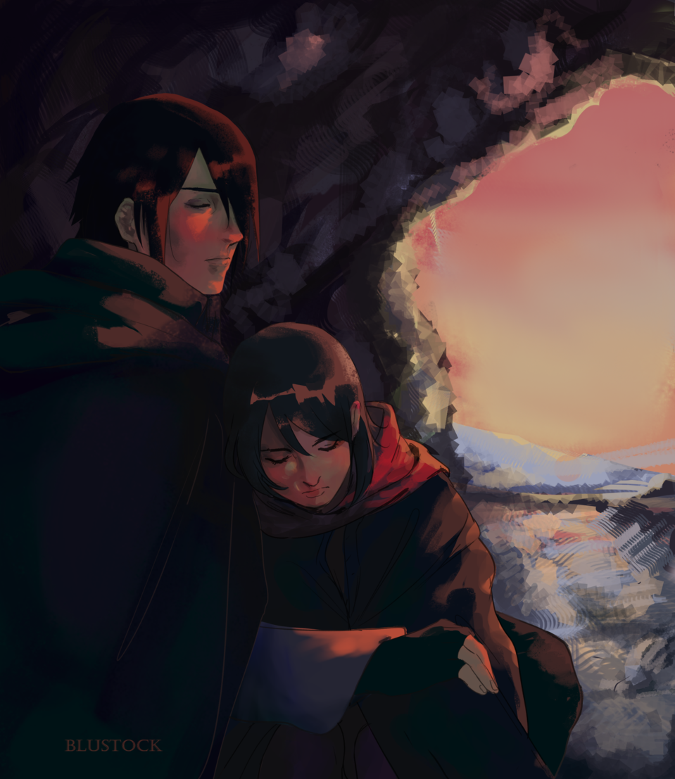 father and daughter  Illust of blustock 1stjumpillust NARUTO