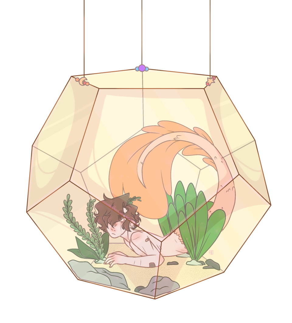 hes a fish Illust of •Kleix• medibangpaint mermaid