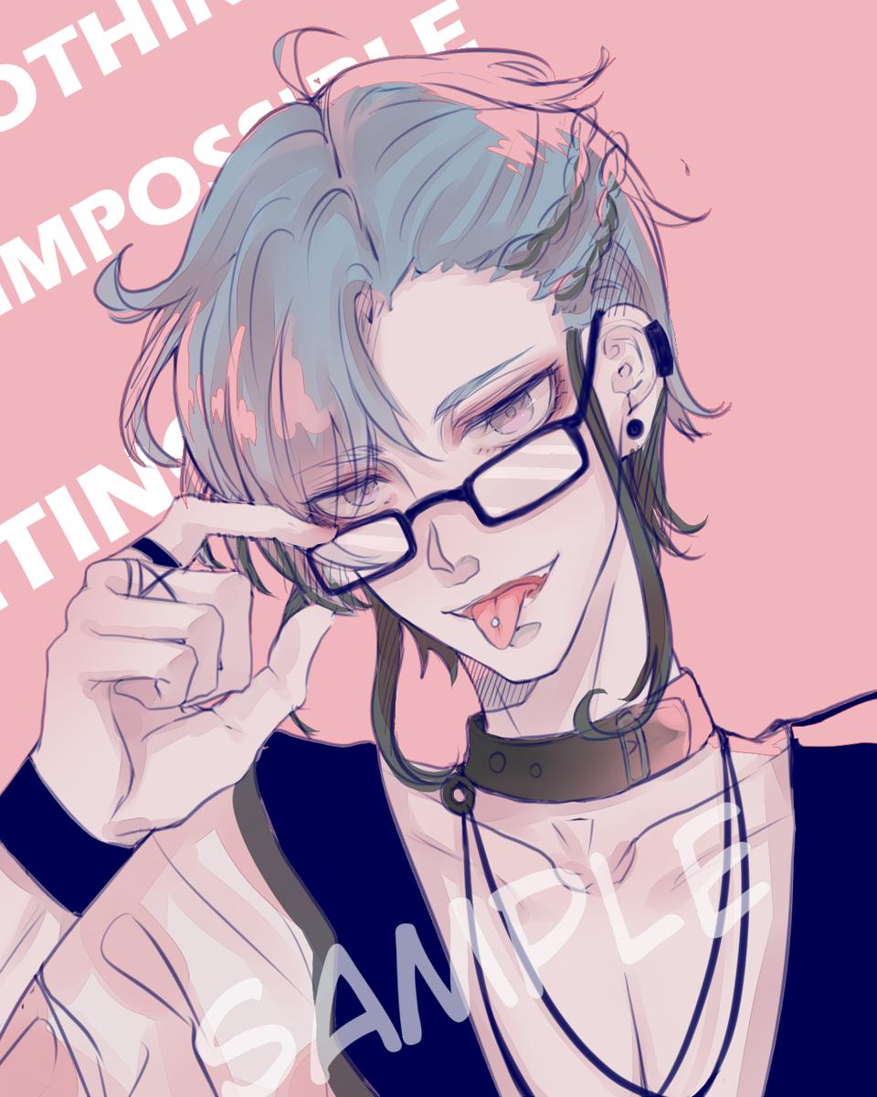 Illust of 东外 medibangpaint boy glasses 舌ピアス