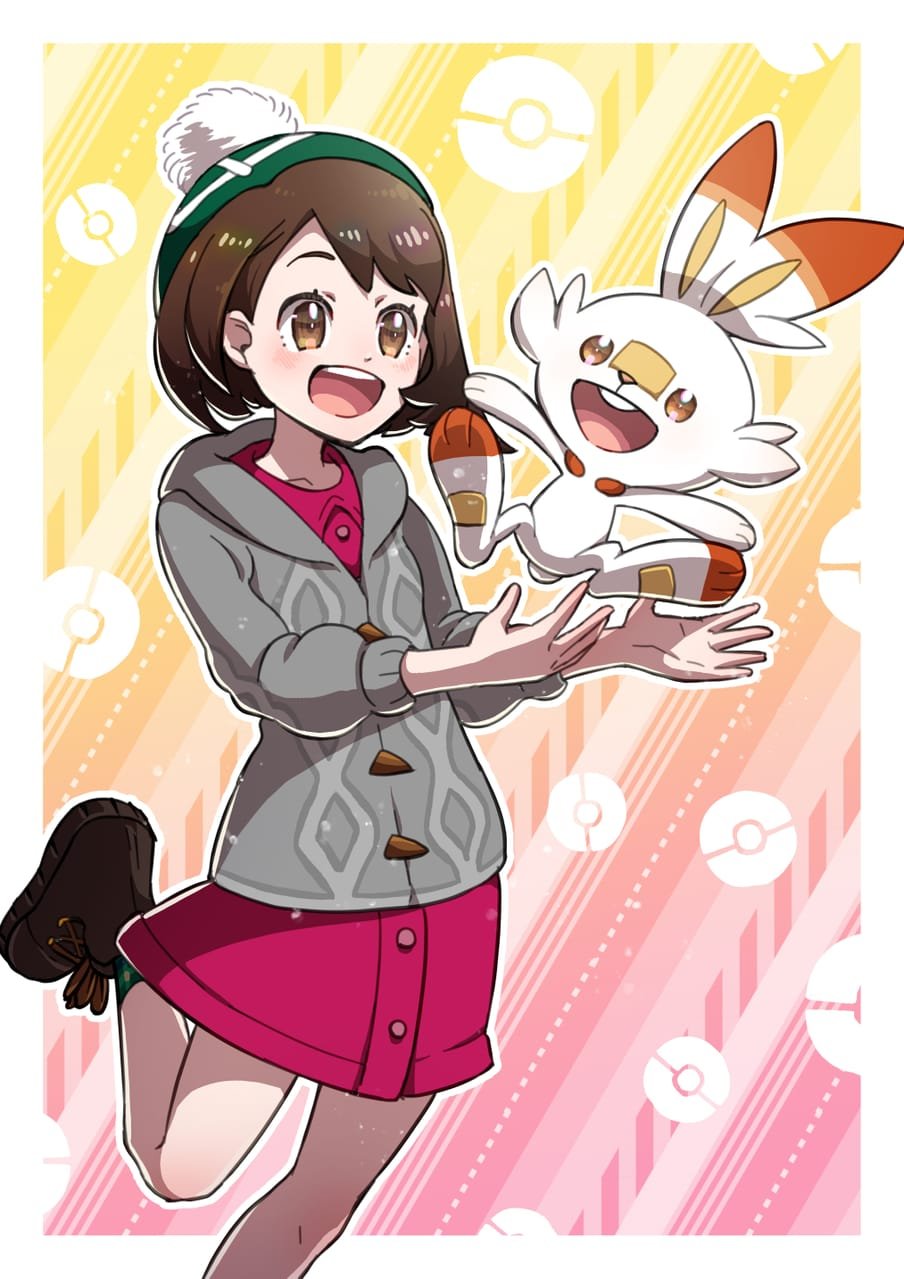 ユウリとヒバニー Illust of 日夏なつお ユウリ(ポケモン) pokemon PokémonSwordandShield Scorbunny