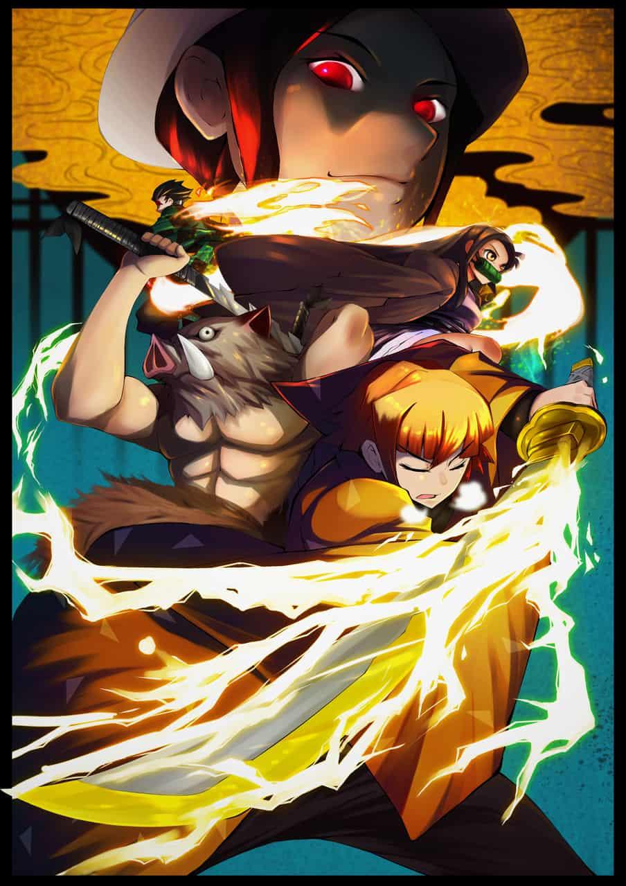鬼灭之刃 Illust of bagakang DemonSlayerFanartContest KamadoNezuko KimetsunoYaiba KibutsujiMuzan KamadoTanjirou AgatsumaZenitsu HashibiraInosuke