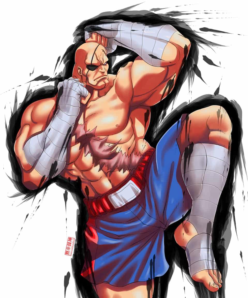 Sagat  Illust of ApocalipseJack StreetFighter fighter sagat FightingGame street apocalipsejack