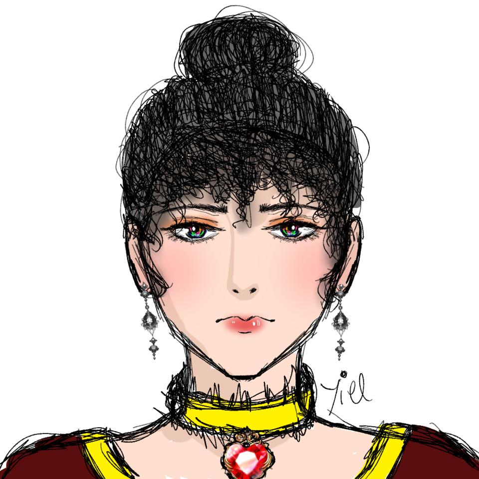 i tried a different artstyle Illust of Yiel princess art royalty oc digital royal