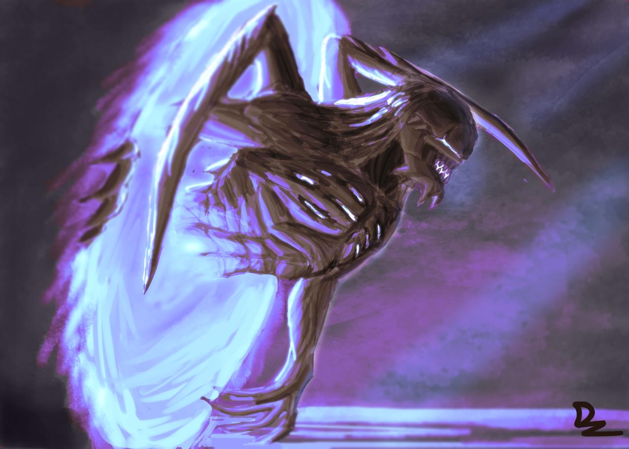Portal Creature Illust of D'zaky fantasy March2021_Creature Evil creature monster Portal
