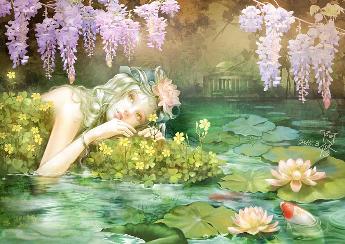 繁花如夢 Illust of dreamingfire 花朵 illustration 奇幻
