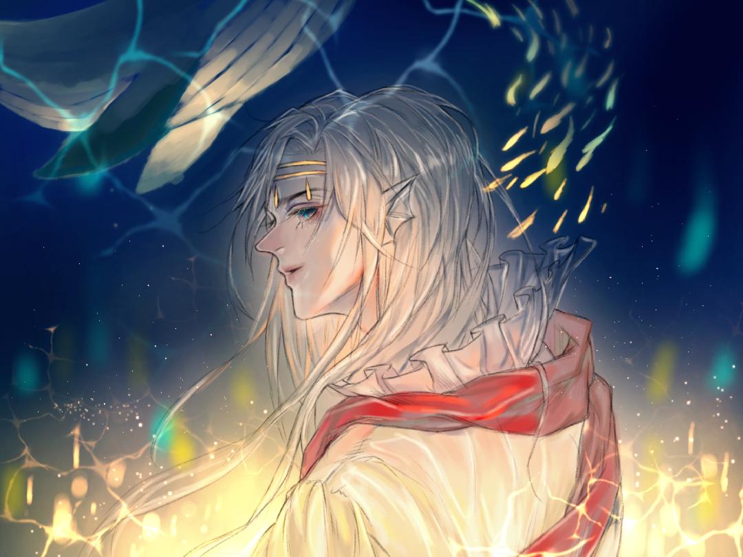 海的王子 Illust of 苏墨鳞 medibangpaint sea oc