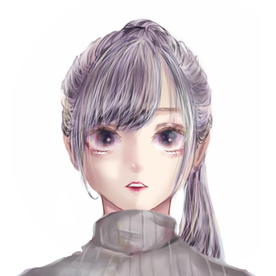 画力上げ中 Illust of はろちゃ medibangpaint oc girl purple