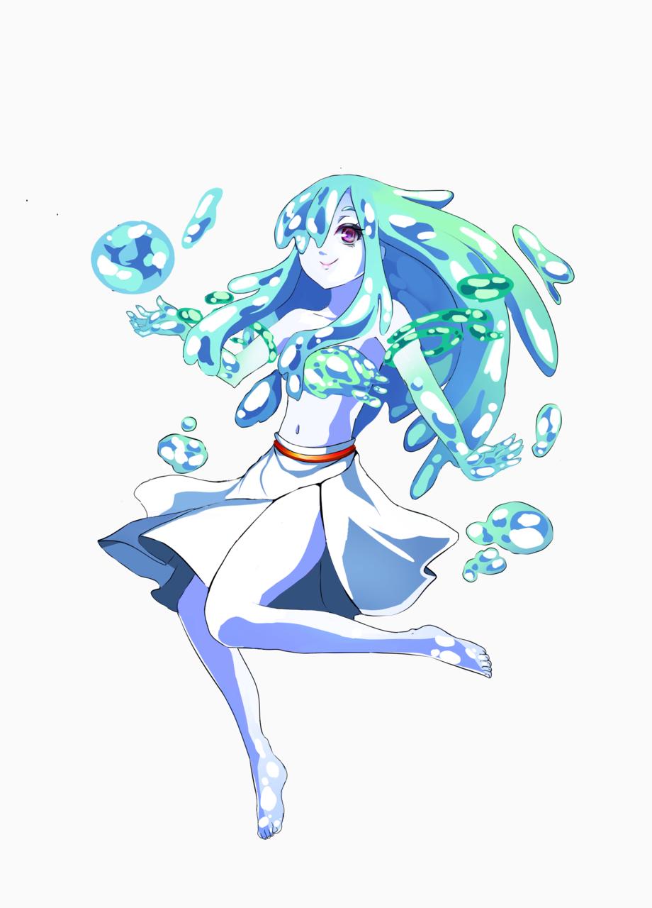 aqua Illust of Rea June2021_Anthropomorphism water cute oc