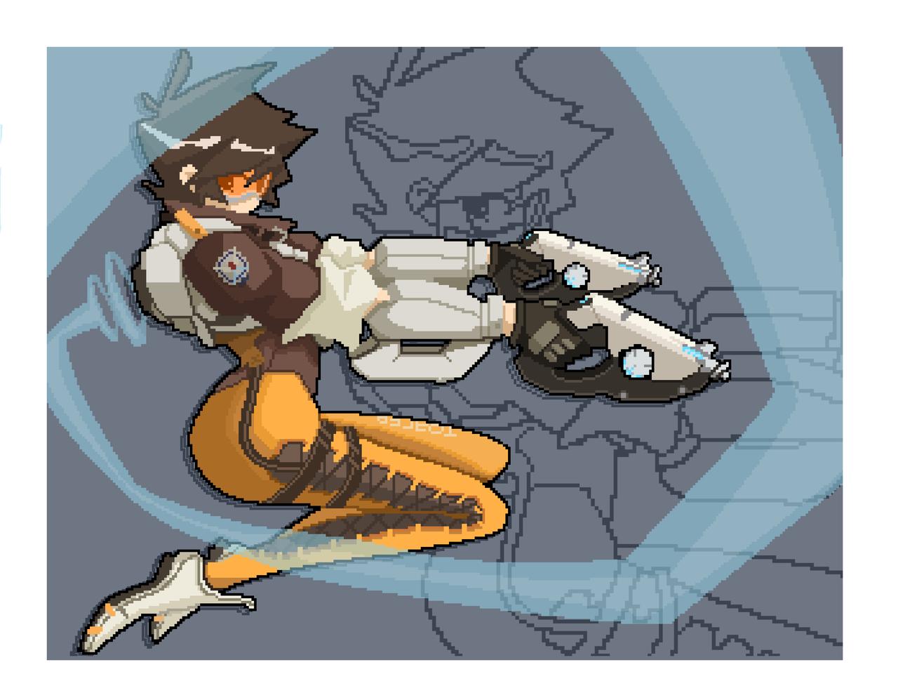 守望先锋-裂空 Illust of Vitamin音果 medibangpaint 像素画 Overwatch