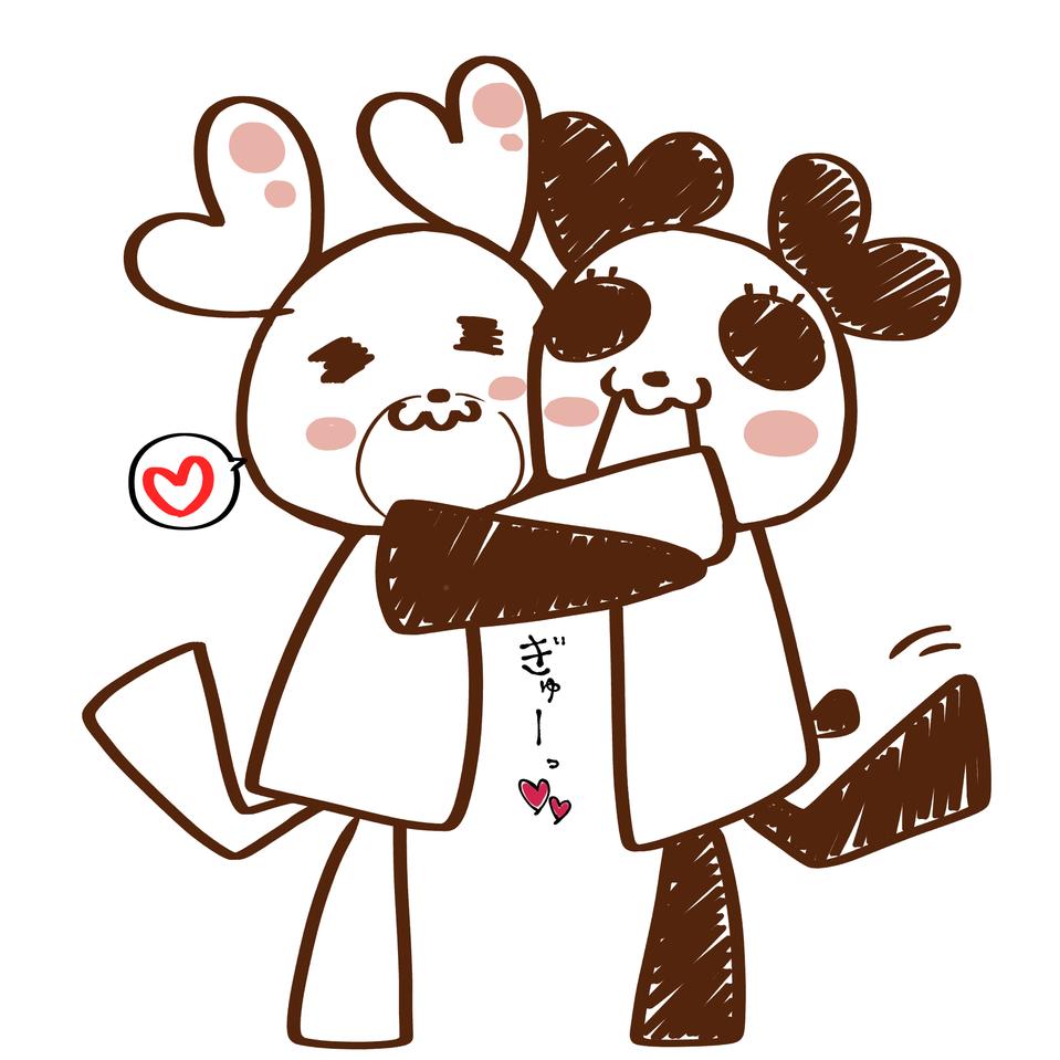 文化祭ラミカその3 HoneyWorks Illust of グラサンうさぎ medibangpaint ハート クマ HoneyWorks ハニワ panda