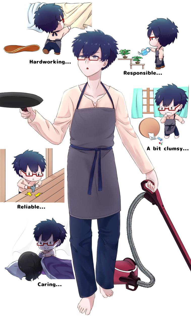 Ideal Husbando Illust of aruji-kun MyIdealWaifu_MyIdealHusbandoContest MyIdealHusbando animeart oc animeboy