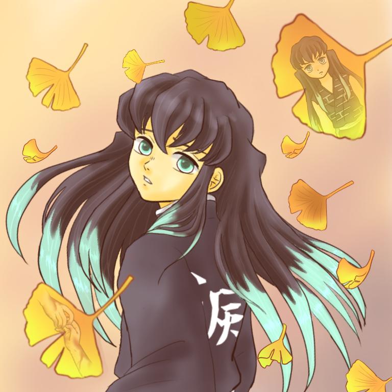 銀杏と追憶 Illust of ちょこ Post_Multiple_Images_Contest KimetsunoYaiba anime 霞柱 TokitouMuichirou autumn 柱