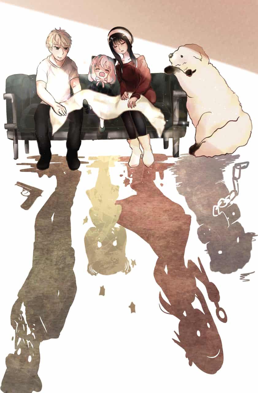かりそめの平穏 Illust of 稲荷木つむぎ SPY×FAMILY_Contest SPY×FAMILY illustration アーニャ・フォージャー ロイド・フォージャー ボンド・フォージャー ヨル・フォージャー