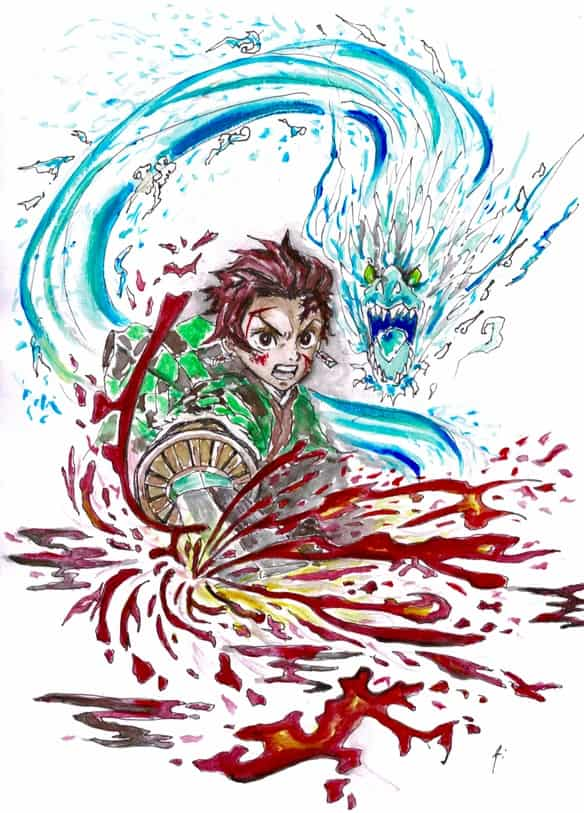 炭治郎 tanjiro Illust of Ai DemonSlayerFanartContest KimetsunoYaiba KamadoTanjirou