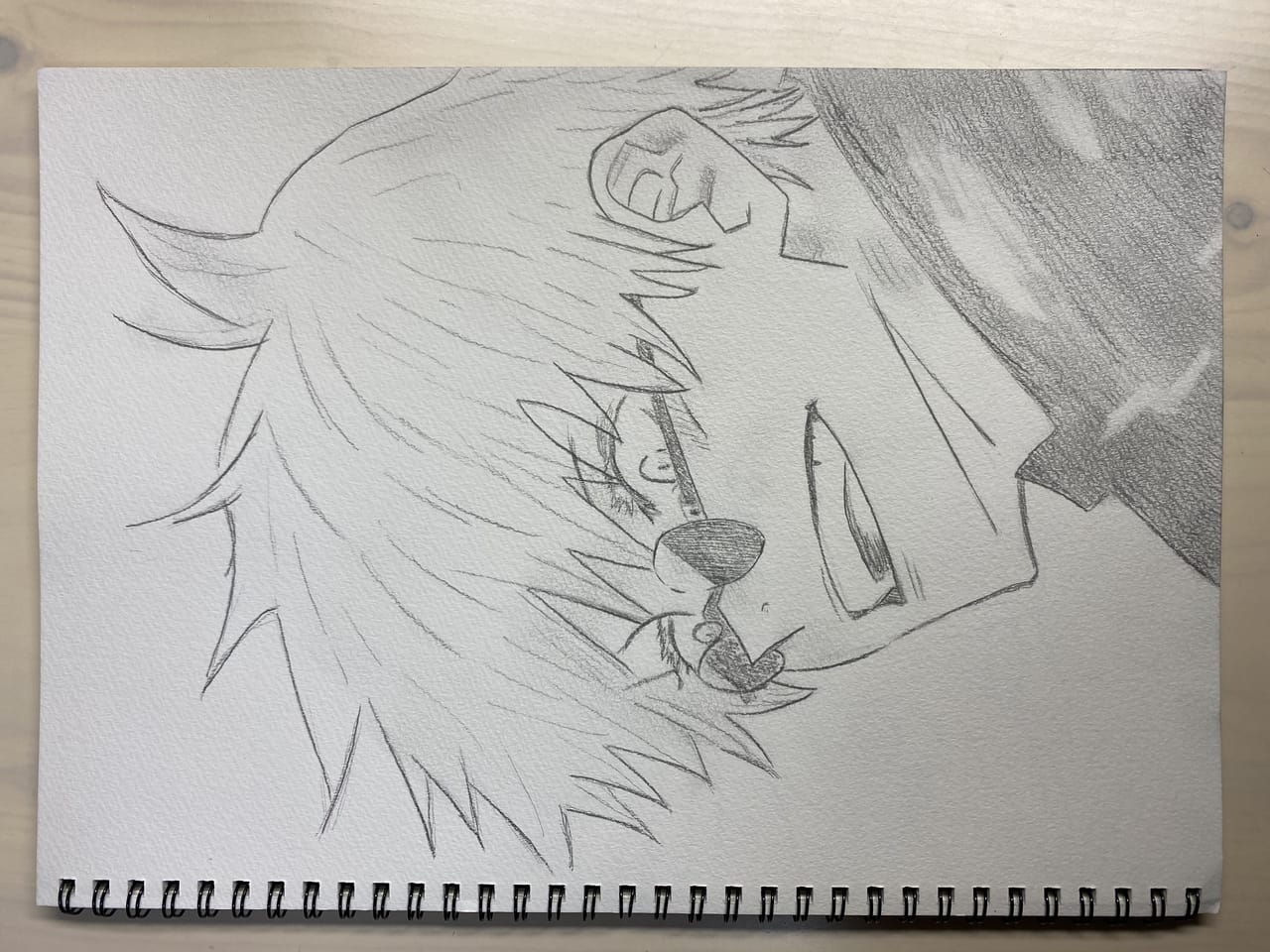 泣いてる? Illust of a_sakura JujutsuKaisenFanartContest SatoruGojō illustration JujutsuKaisen