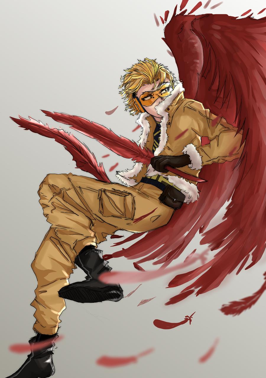 hawks Illust of agu_xiu MyHeroAcademia fanart anime