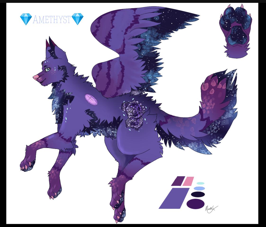 Galaxy poggie  Illust of 🎃🌙WitchieMoon🌙🎃 MoonFoxAnimation galaxy wolf Amethyststonewolf Galaxywolf Amethyst furry Wolffurry