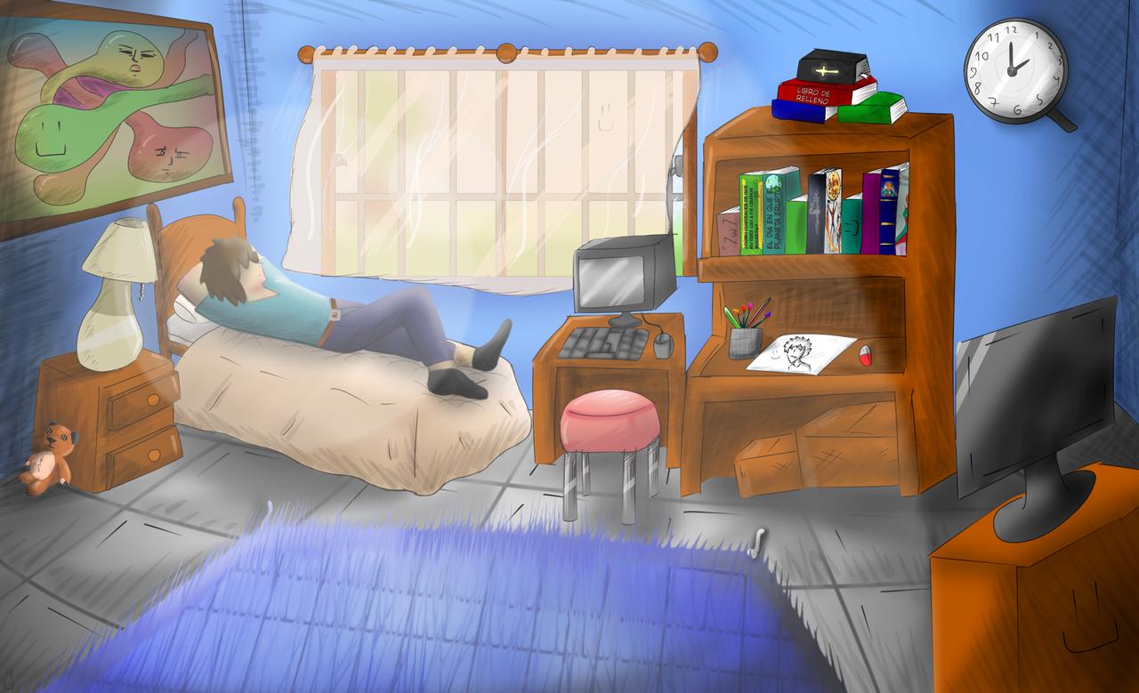 El cuarteto v: Illust of Hory medibangpaint Room drawing Habitacion
