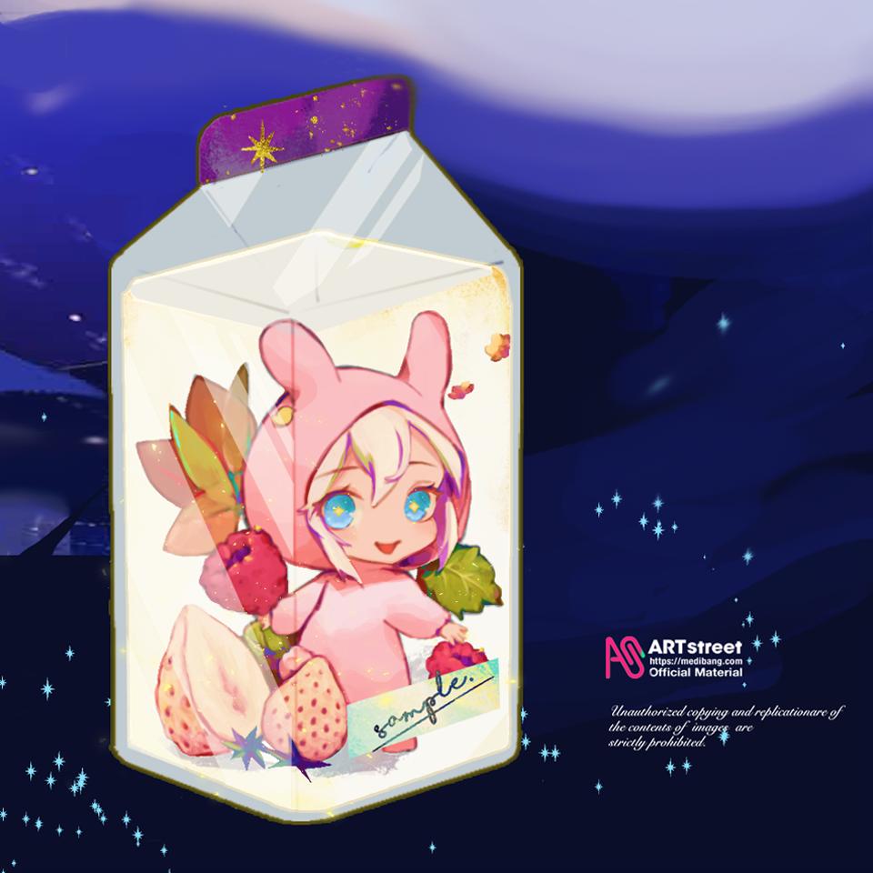 (❀╹◡╹)~ Illust of 森森慵懶 tracedrawing3rd drawing Trace&Draw【Official】 fanart food chibi illustration rabbit eyes oc anime