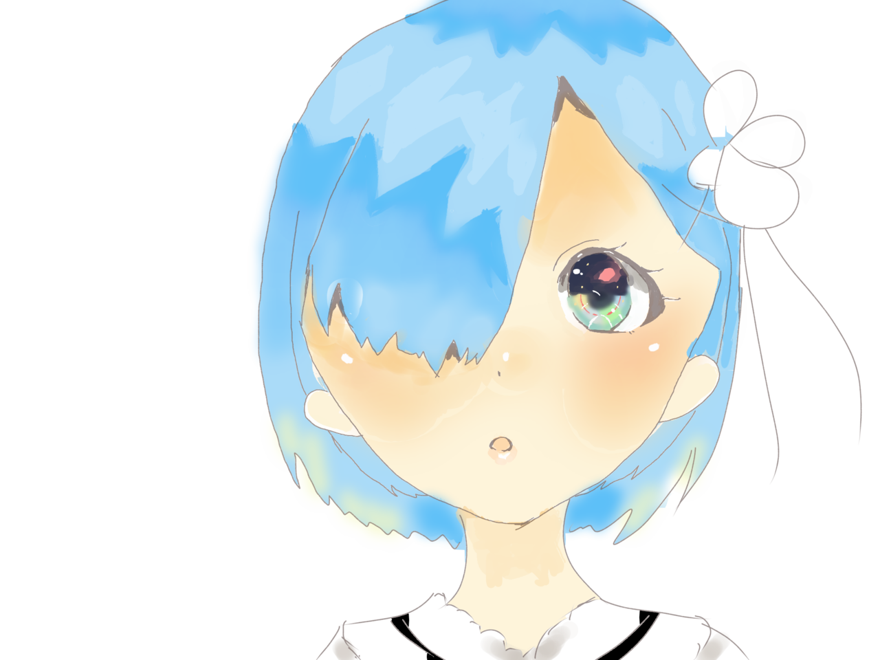 レム Illust of たこ illustration Re:ゼロ painting Re:Zero digital anime girl レム medibanpaint メディバンペイント
