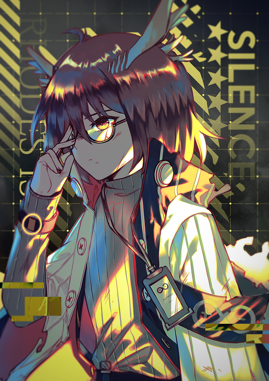 Worn-out Silence Illust of Neian Silence(Arknights) Silence Rhinelabs(arknights) Arknights