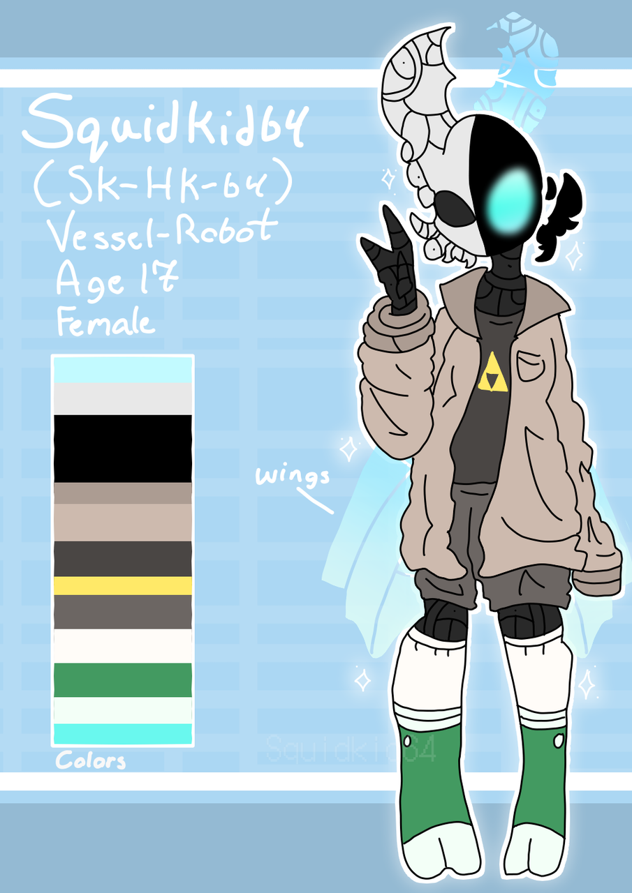 Squidkid64 2021 updated ref sheet Illust of Squidkid64 medibangpaint refsheet Hollow_Knight oc