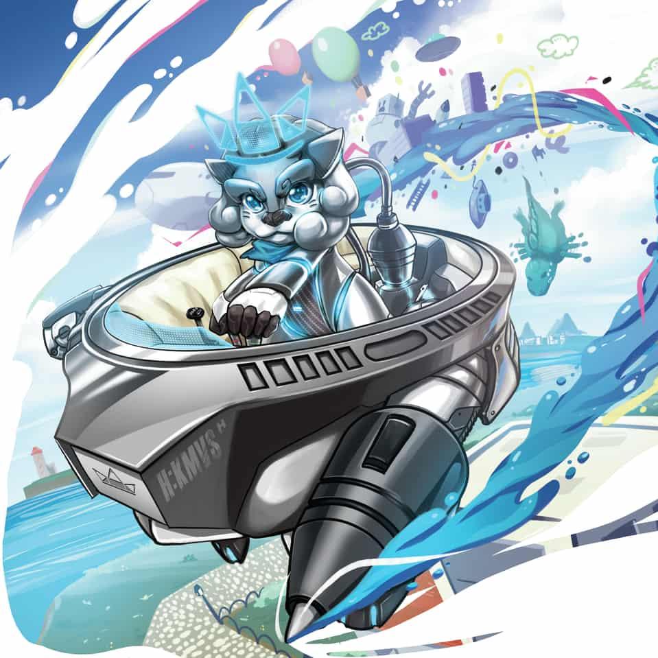 Render the future Illust of Mazukou HuionDesign future illustration leon tablet