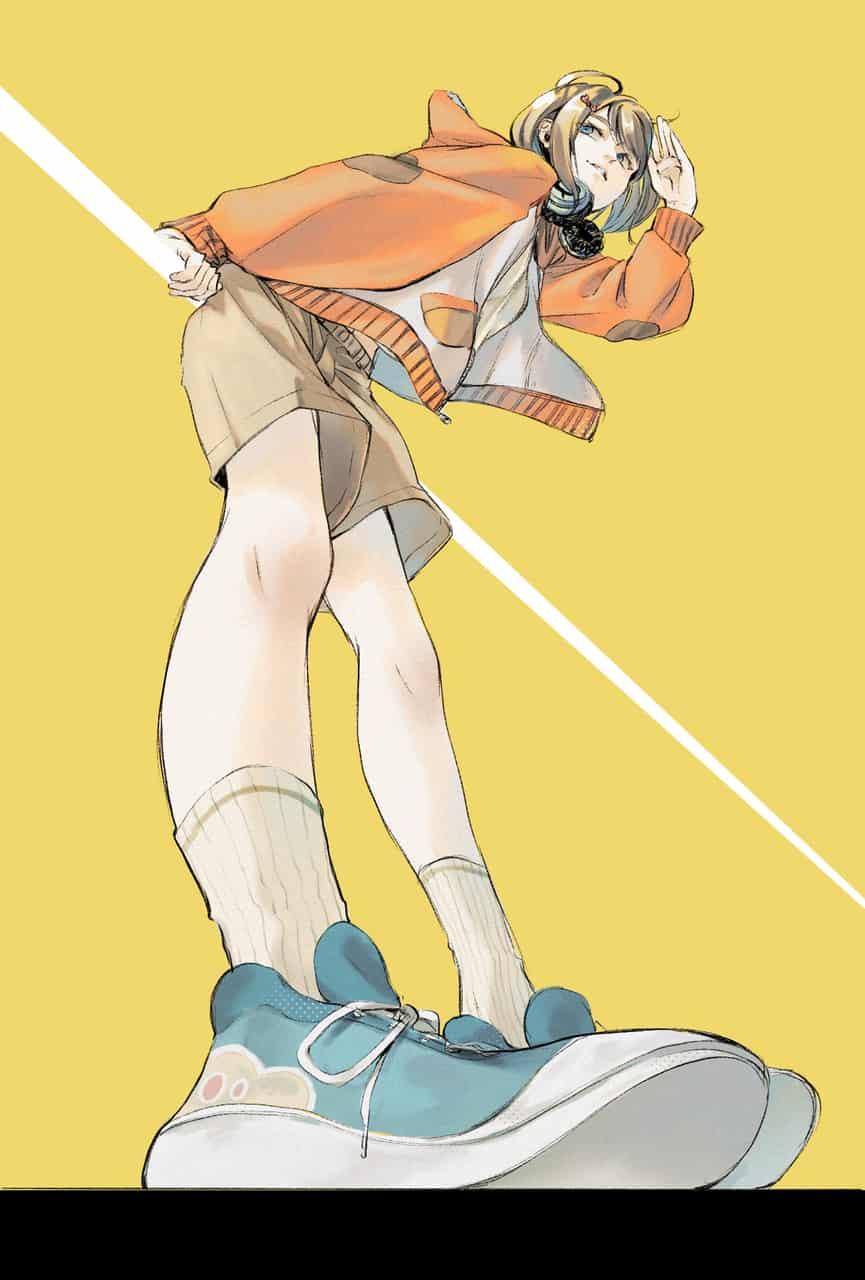 2020↑、2018↓ Illust of 陳田こころ Post_Multiple_Images_Contest oc girl ローアングル illustration