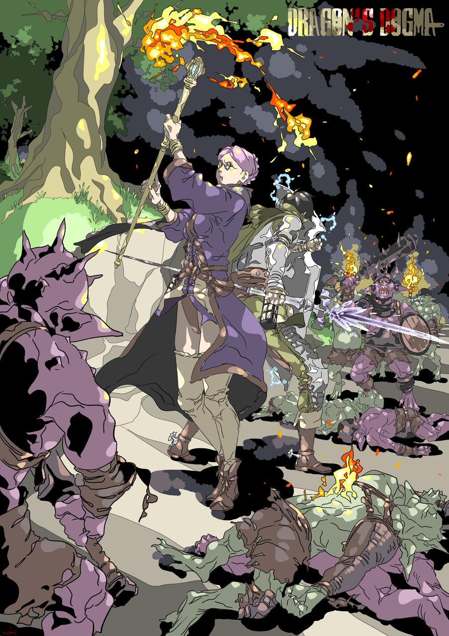 DRAGON'S DOGMA-03 Illust of oki fantasy medibangpaint black game ドラゴンズドグマ