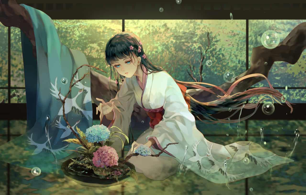 綠之瑠璃 Illust of 凜紙械恩 kyoto-illust2019 original Japanese_style kimono