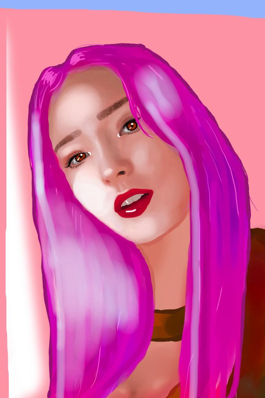 ahora ILUMINAME Illust of Digital world- KGJ ARTstreet_Ranking medibangpaint girl pinkhair MediBang medibang pink Girls eyes Medibang