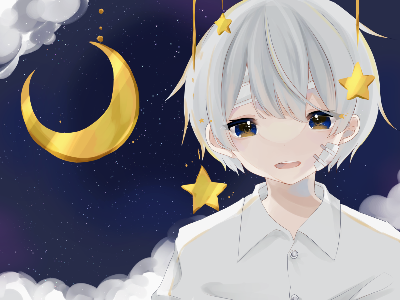💫💫💫 Illust of すい 創作男子 space illustration
