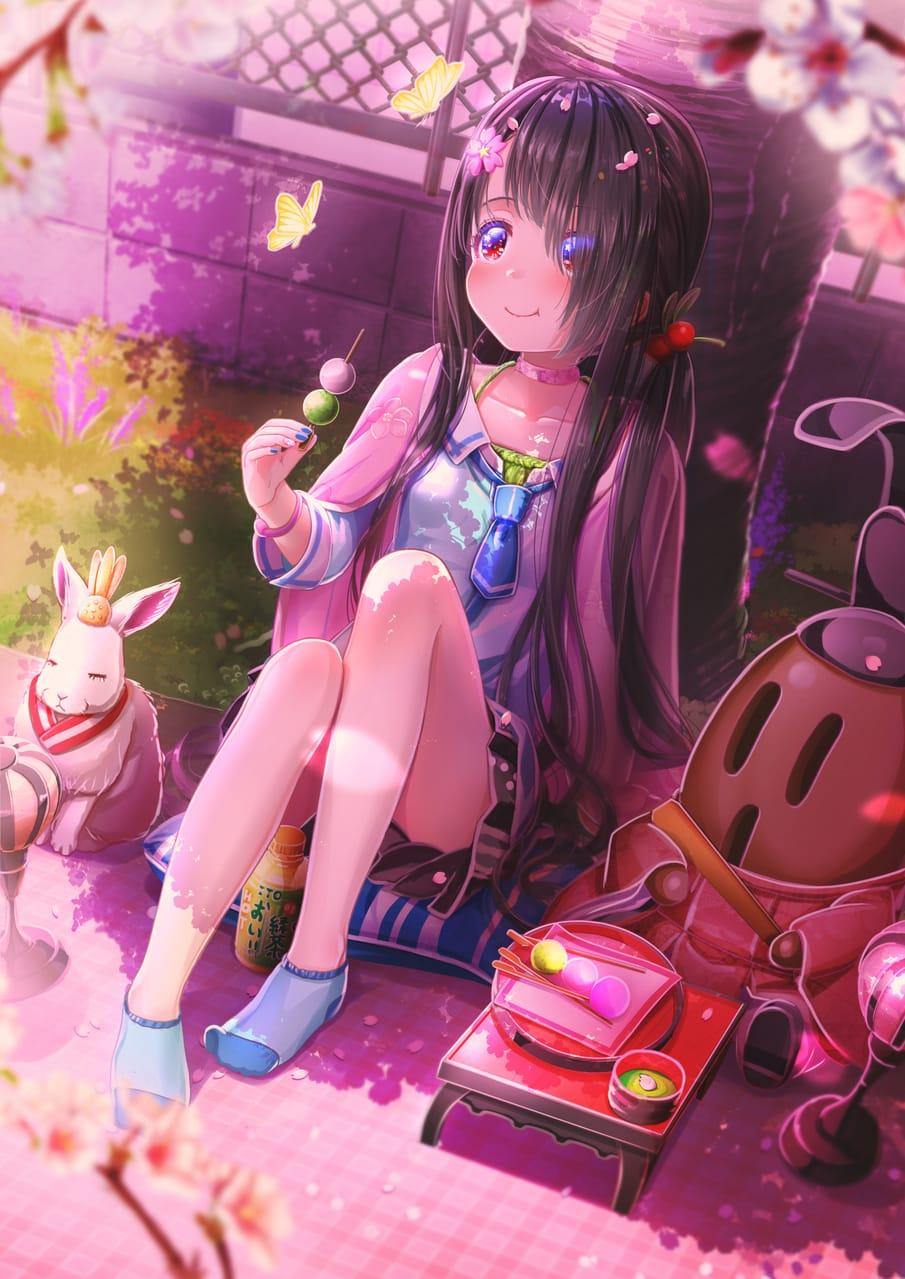 桜てふてふ Illust of あいうあぼ original girl sakura
