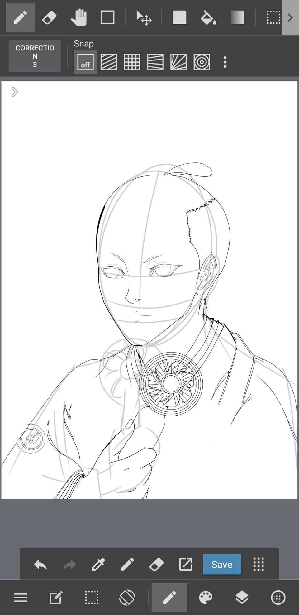 the way i draw! Illust of zozo fanart painting medibangpaint sketch drawing Japanese_style contest art illustration