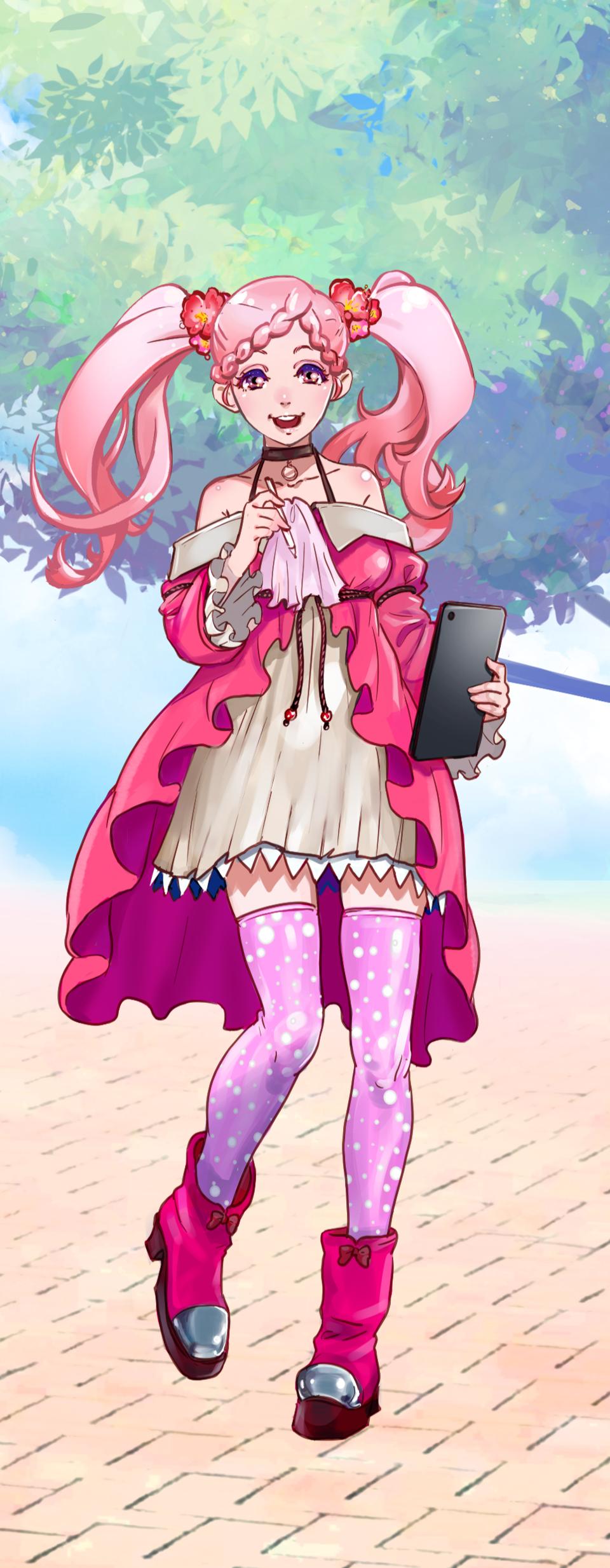 ピンクさん Illust of Yana PASTEL_SKETCH2020 original girl pink